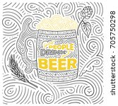 beer theme card design. the... | Shutterstock .eps vector #705750298