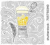 beer theme card design. the... | Shutterstock .eps vector #705750340