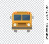 illustration of school bus icon | Shutterstock .eps vector #705750454