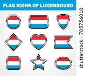 Flag Icons of Luxembourg Stock vector graphic