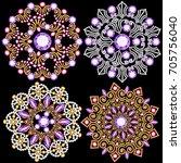 illustration set of jewelry... | Shutterstock .eps vector #705756040