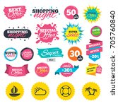 sale shopping banners. travel... | Shutterstock .eps vector #705760840