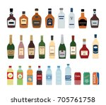 large set of isolated water and ... | Shutterstock .eps vector #705761758