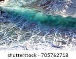 ocean waves during a storm | Shutterstock . vector #705762718