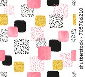 seamless pattern with pink ...   Shutterstock .eps vector #705766210