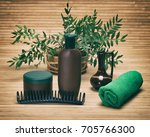 natural hair beauty products.... | Shutterstock . vector #705766300