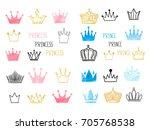 big set of doodle sketch...   Shutterstock .eps vector #705768538