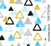 seamless pattern with blue ...   Shutterstock .eps vector #705770704