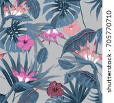 vector seamless beautiful... | Shutterstock .eps vector #705770710