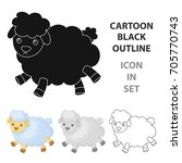Toy Sheep Icon In Cartoon Style ...