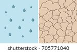 rain and drought contrast... | Shutterstock .eps vector #705771040