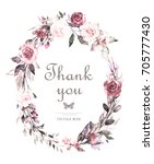 hand painted card  watercolor... | Shutterstock . vector #705777430