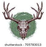 realistic detailed hand drawn... | Shutterstock .eps vector #705783013