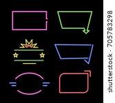 empty neon signs. set of bright ... | Shutterstock .eps vector #705783298