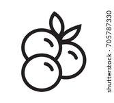 blueberry icon | Shutterstock .eps vector #705787330