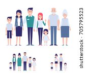 vector family set. big family... | Shutterstock .eps vector #705795523
