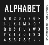 creative paper alphabet. vector ...   Shutterstock .eps vector #705799093