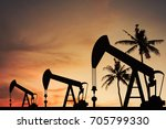 oil pump oil rig energy... | Shutterstock . vector #705799330