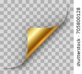 gold page corner curl vector... | Shutterstock .eps vector #705800128