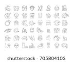 vector graphic set. icons in... | Shutterstock .eps vector #705804103