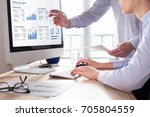 team of consulting auditors... | Shutterstock . vector #705804559
