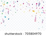 many falling colorful tiny... | Shutterstock .eps vector #705804970