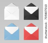 set of blank color realistic... | Shutterstock .eps vector #705807010