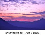 Twilight Sky In Purple Over Th...