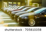 luxury modern cars for sale... | Shutterstock . vector #705810358