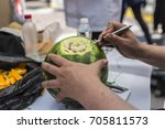 food carving art decoration... | Shutterstock . vector #705811573