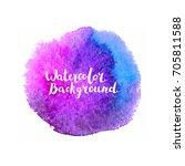 watercolor brush paint. hand... | Shutterstock .eps vector #705811588
