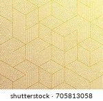 gold glitter geometric pattern... | Shutterstock .eps vector #705813058