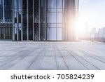 empty floor with modern... | Shutterstock . vector #705824239