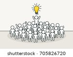 little white people with... | Shutterstock .eps vector #705826720