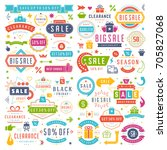 sale badges and tags design... | Shutterstock .eps vector #705827068