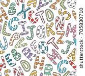 vector hand drawn doodle... | Shutterstock .eps vector #705830710
