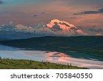 view of alaska's mount denali... | Shutterstock . vector #705840550