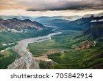 aerial view of talkeetna... | Shutterstock . vector #705842914