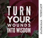turn your wounds into wisdom.... | Shutterstock . vector #705851659