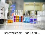experiments in chemistry... | Shutterstock . vector #705857830