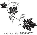 Black Decorative Design Element ...