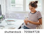 time for a status update | Shutterstock . vector #705869728