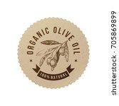 organic olive oil label in eco... | Shutterstock .eps vector #705869899