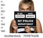 young beautiful blonde woman...   Shutterstock . vector #705874108
