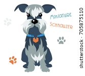 Vector Funny Dog Miniature...