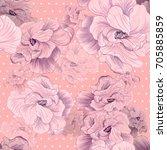 flowers     decorative... | Shutterstock . vector #705885859