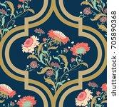 seamless vector vintage pattern ... | Shutterstock .eps vector #705890368