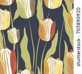 tulip | Shutterstock .eps vector #705890920