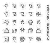 filter data vector icon set in... | Shutterstock .eps vector #705892666
