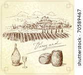 vineyard original hand drawn... | Shutterstock .eps vector #70589467